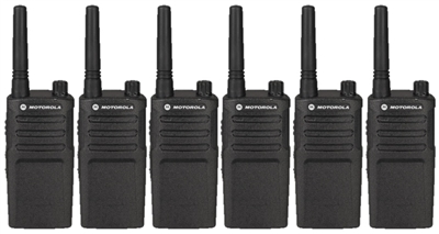 Motorola RMU2040 6 Pack Radio Bundle