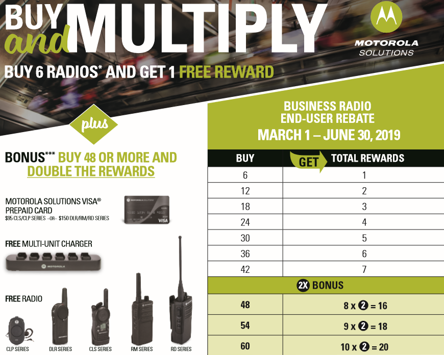 Spring 2019 Motorola Two Way Radio Rebate
